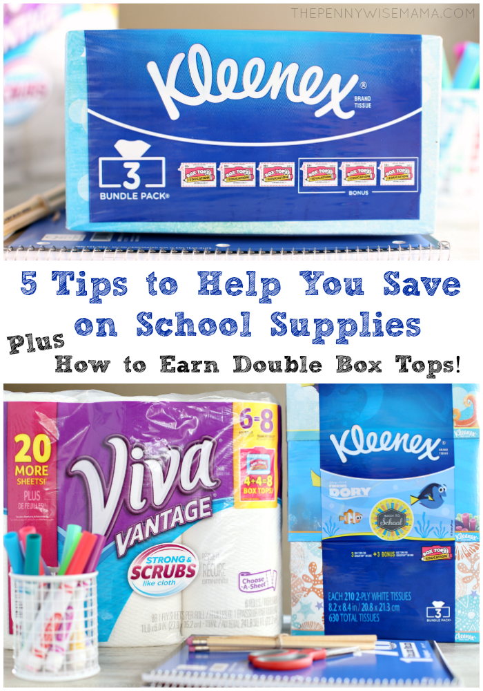 5 Tips to Help You Save on School Supplies & Earn Double Box Tops