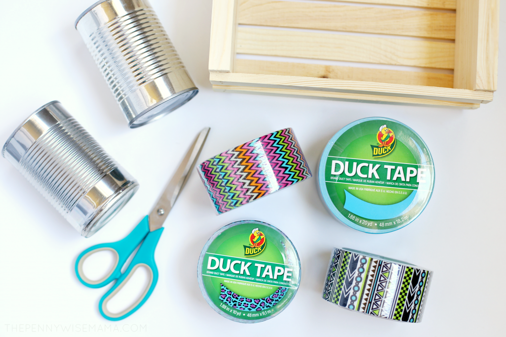 DIY Duck Tape Pencil Holder & Art Organizer