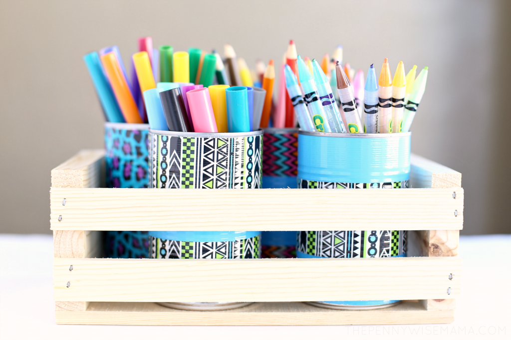 DIY Pencil Holder & Art Organizer