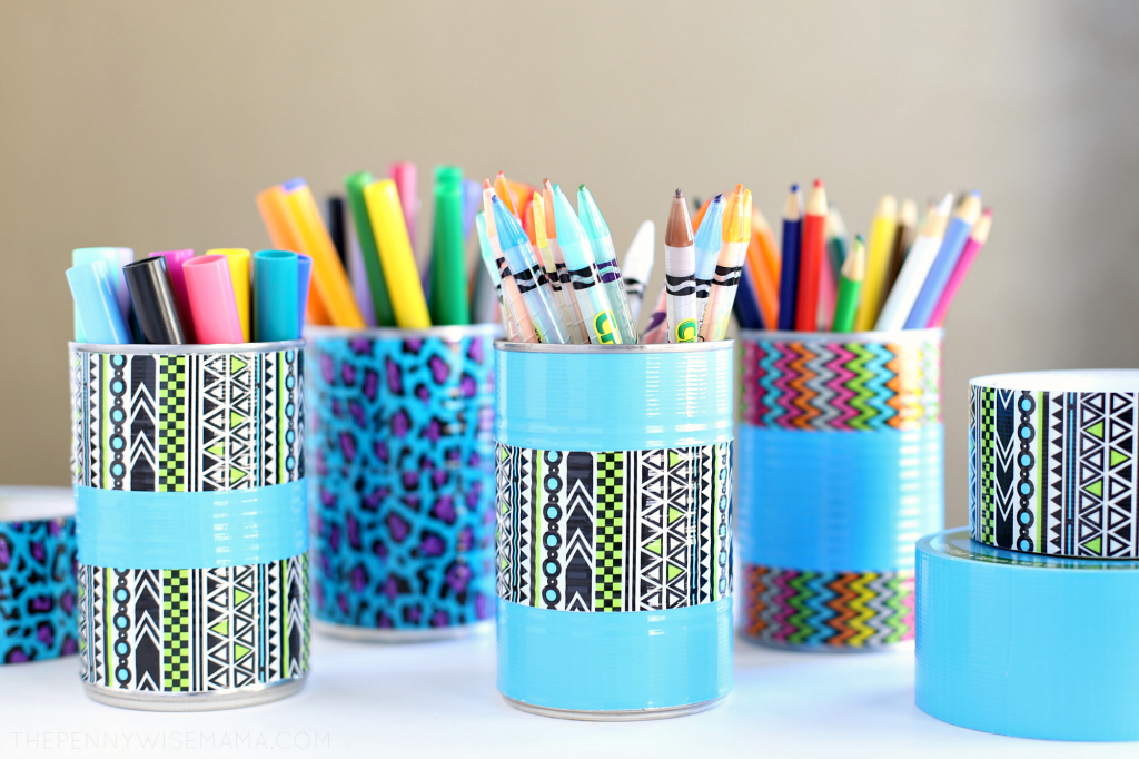 DIY Duct Tape Pencil Holder