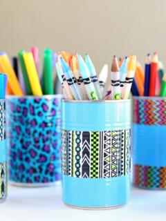 DIY Duct Tape Pencil Holder