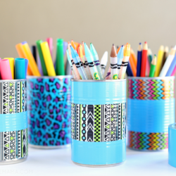 DIY Duck Tape Pencil Holder & Art Organizer {Giveaway}