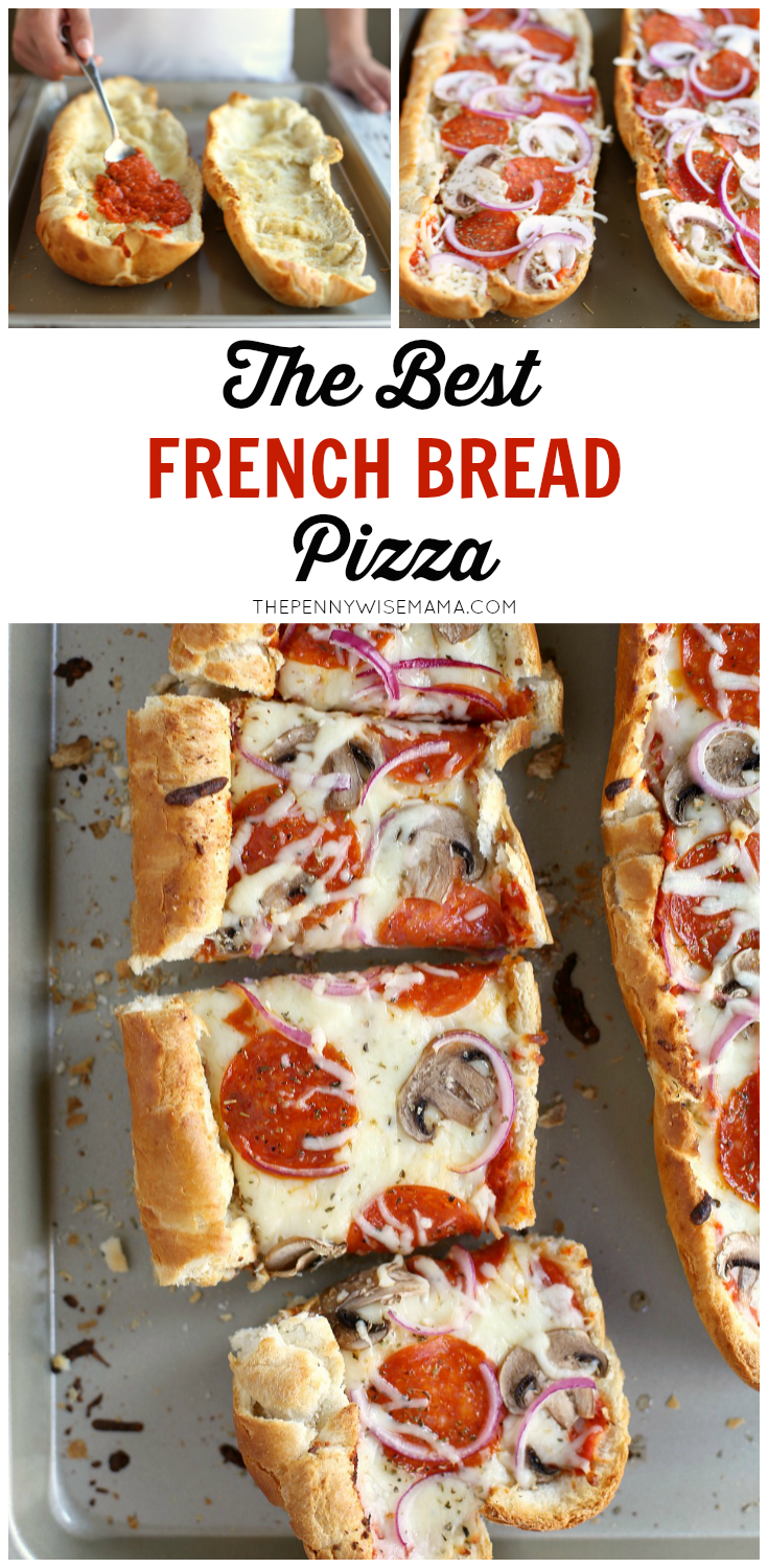 The BEST French Bread Pizza! So simple and delicious. Your kids will love making their own!