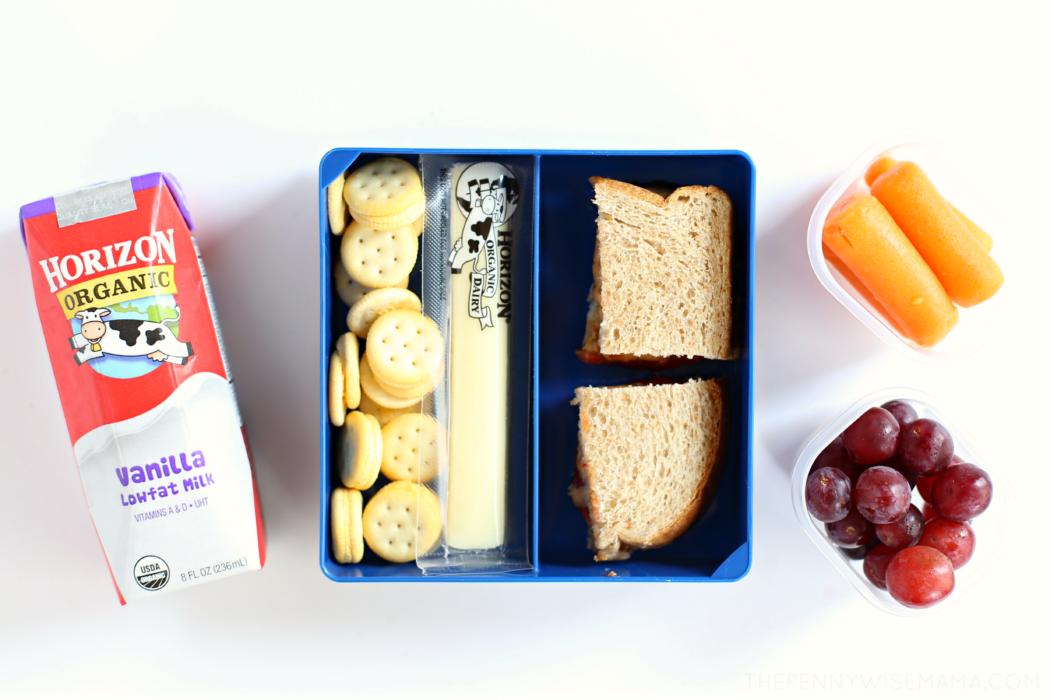 Fresh Lunch Box Ideas featuring Horizon Organic