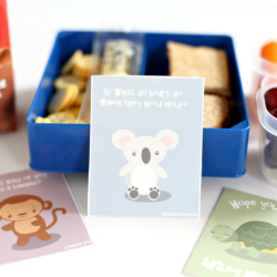 Fresh Lunch Box Ideas + Cute Animal Lunch Box Notes {Free Printable}