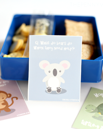 Cute Animal Lunch Box Notes