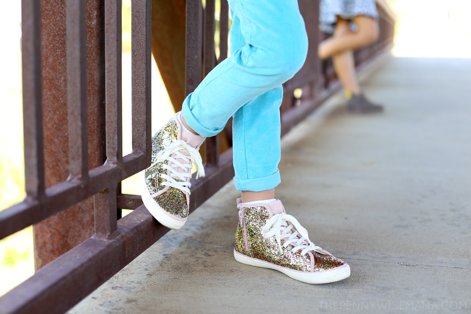 Mini Boden Glitter High Tops