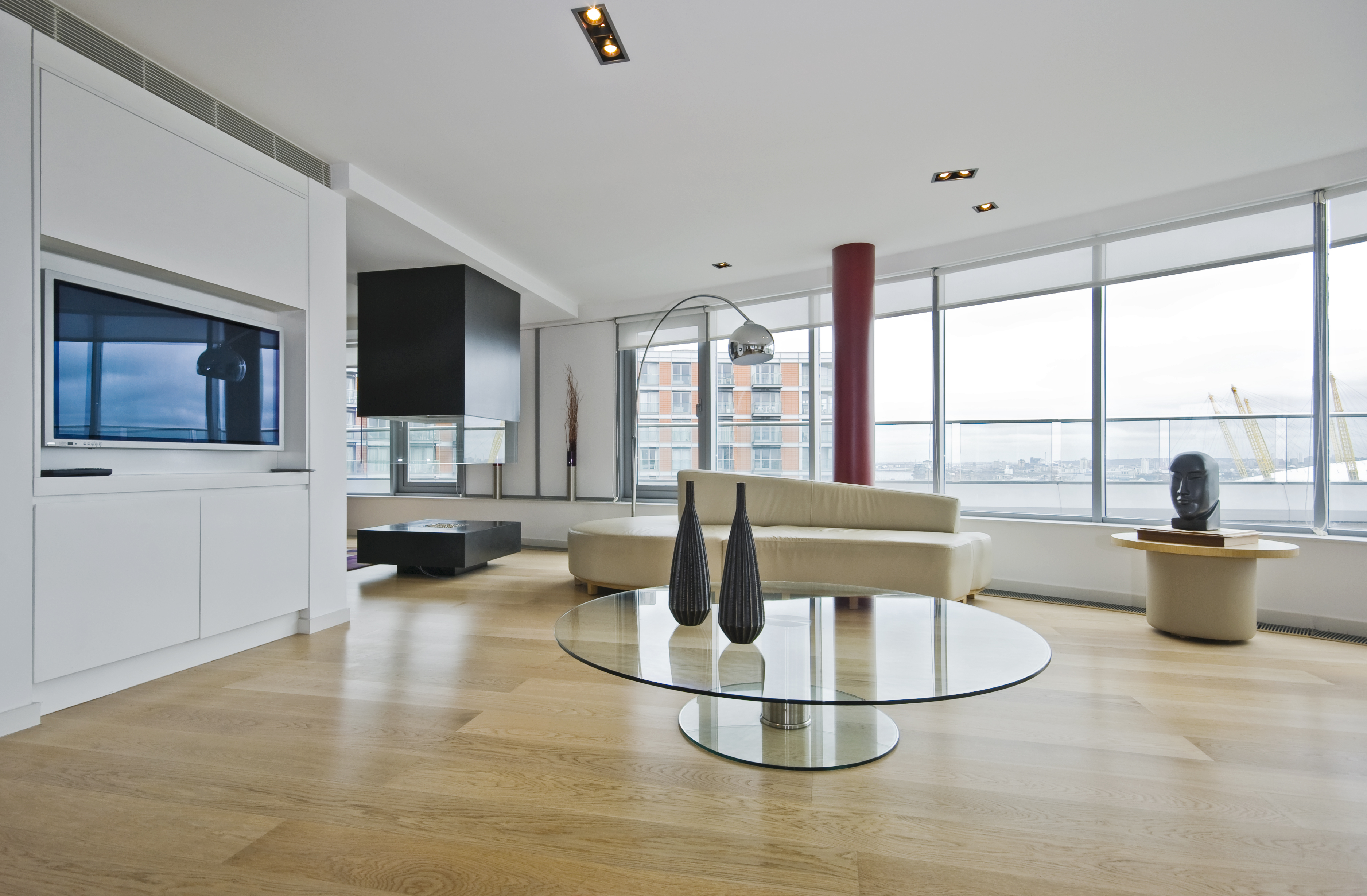 luxury penthouse apartments living room with designer features