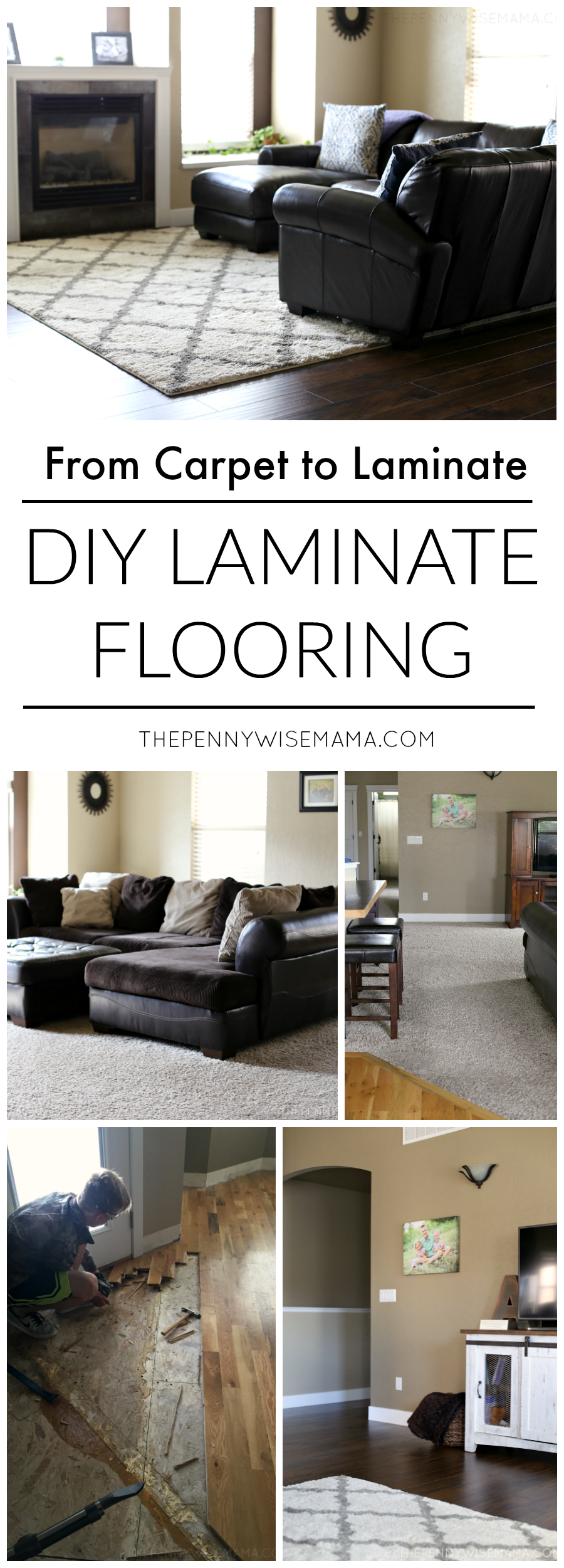 DIY Laminate Flooring featuring Select Surfaces laminate