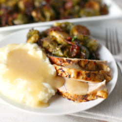 Roasted Turkey & Maple Bacon Brussels Sprouts {Giveaway}