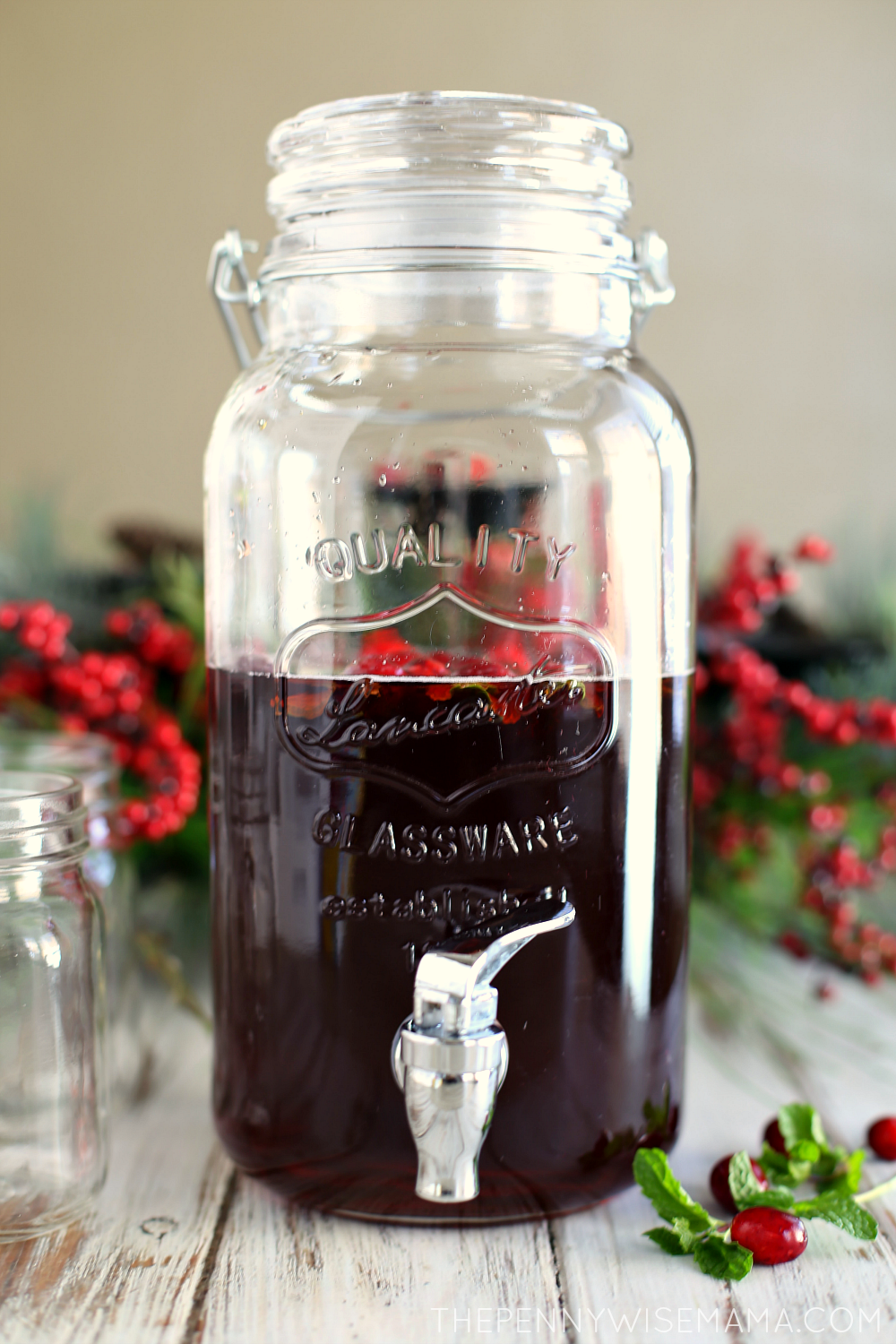 Festive Cranberry Mint Iced Tea