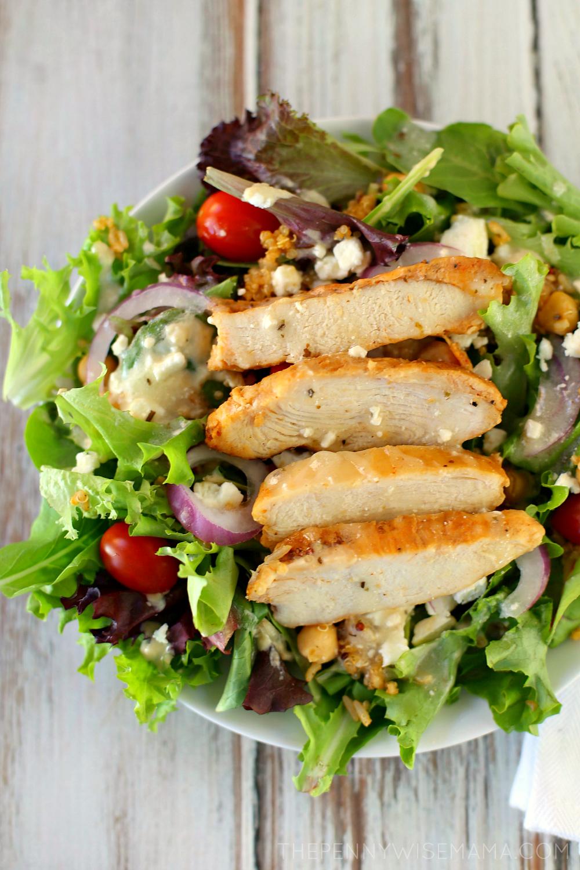 Mediterranean Chicken Salad - healthy, delicious and full of flavor!