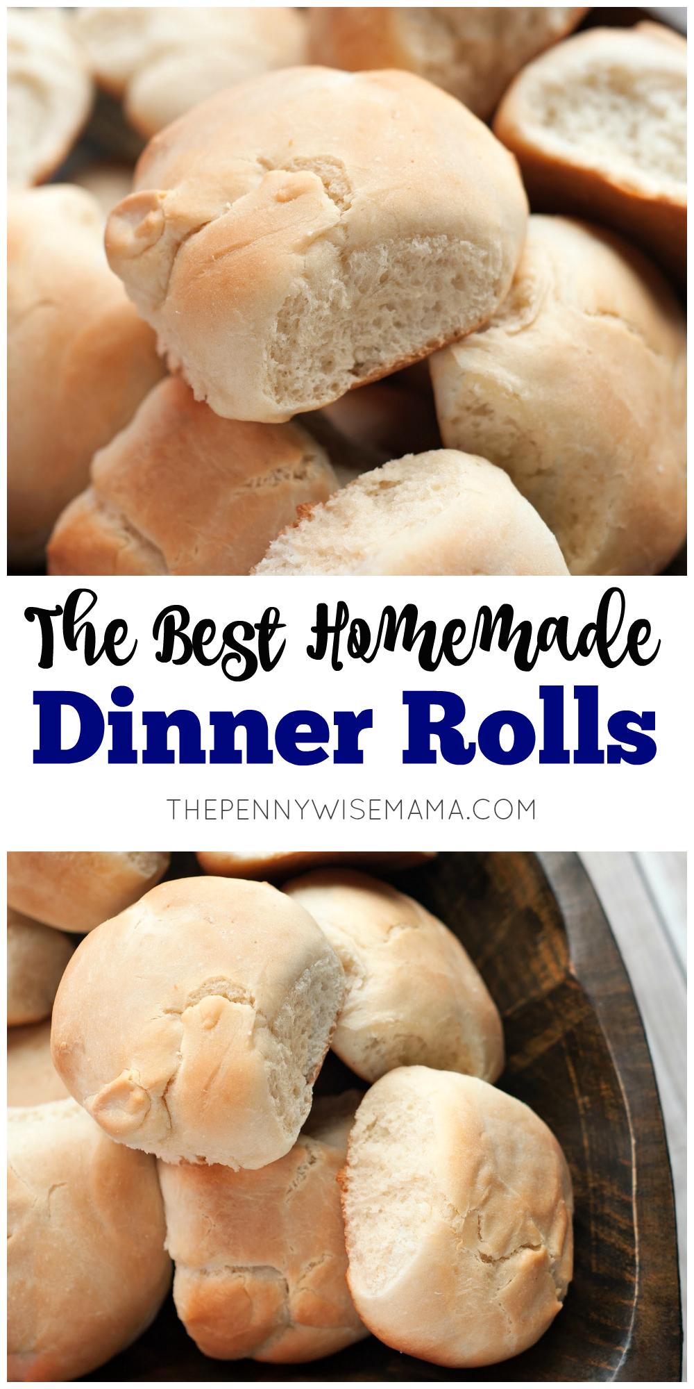 The Best Dinner Rolls - easy homemade recipe!