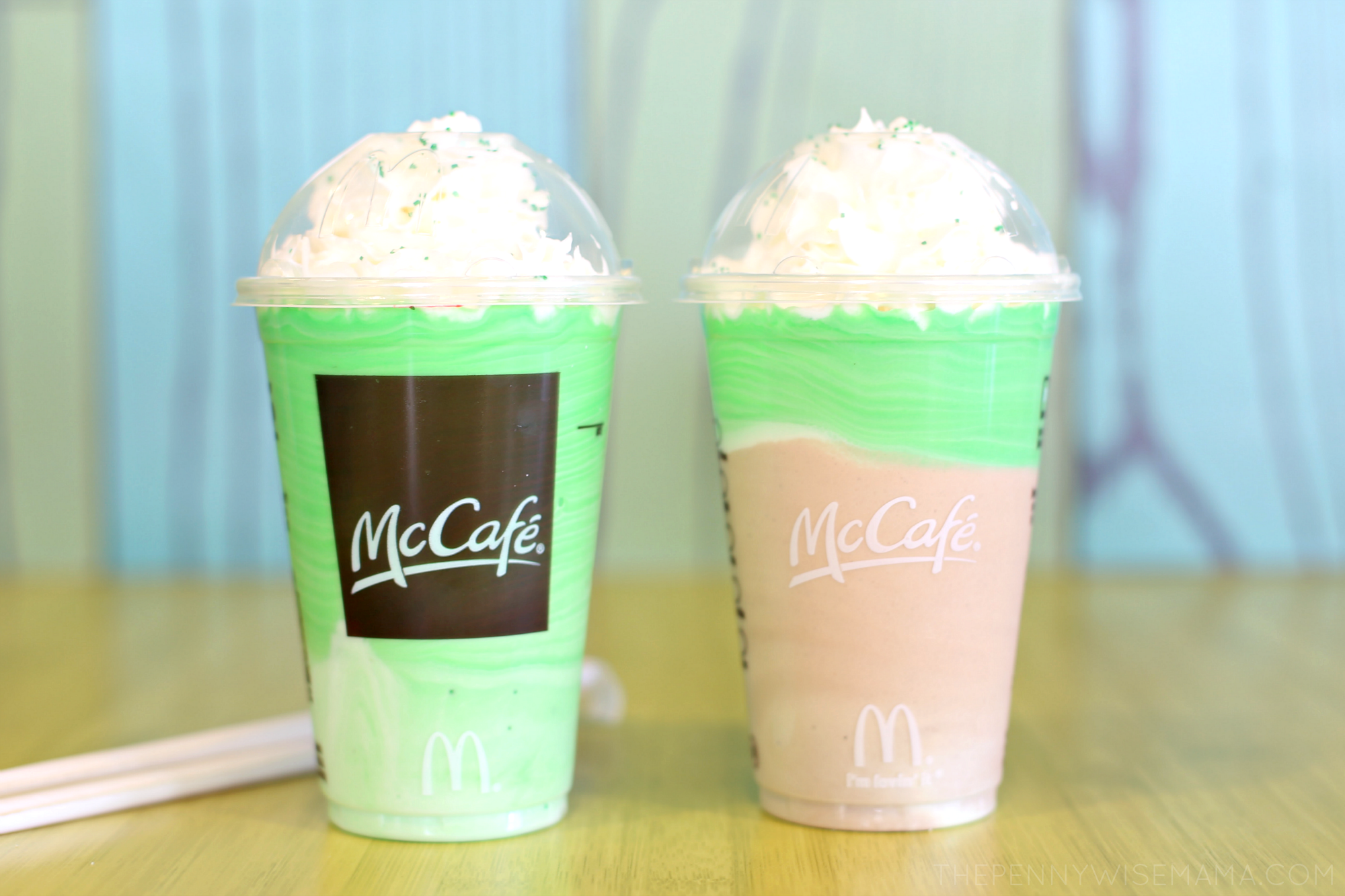 McCafe Chocolate Shamrock Madness Drinks