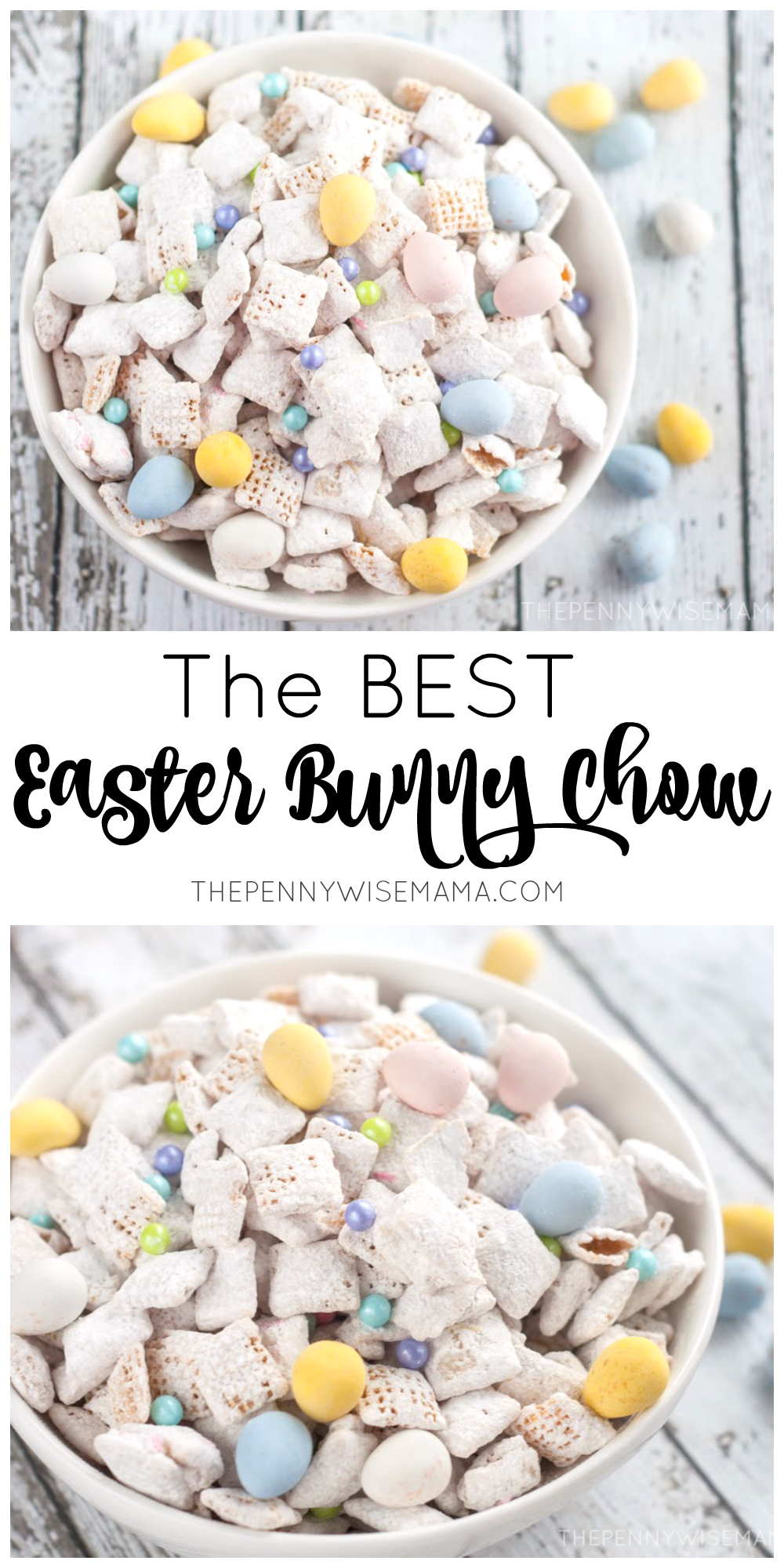The BEST Easter Bunny Chow (muddy buddies) - simple and delicious recipe