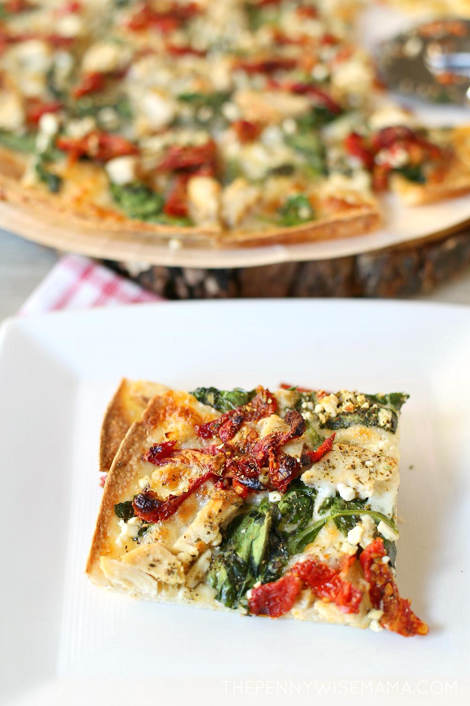Papa Murphy's Herb Chicken Mediterranean Thin Crust Pizza