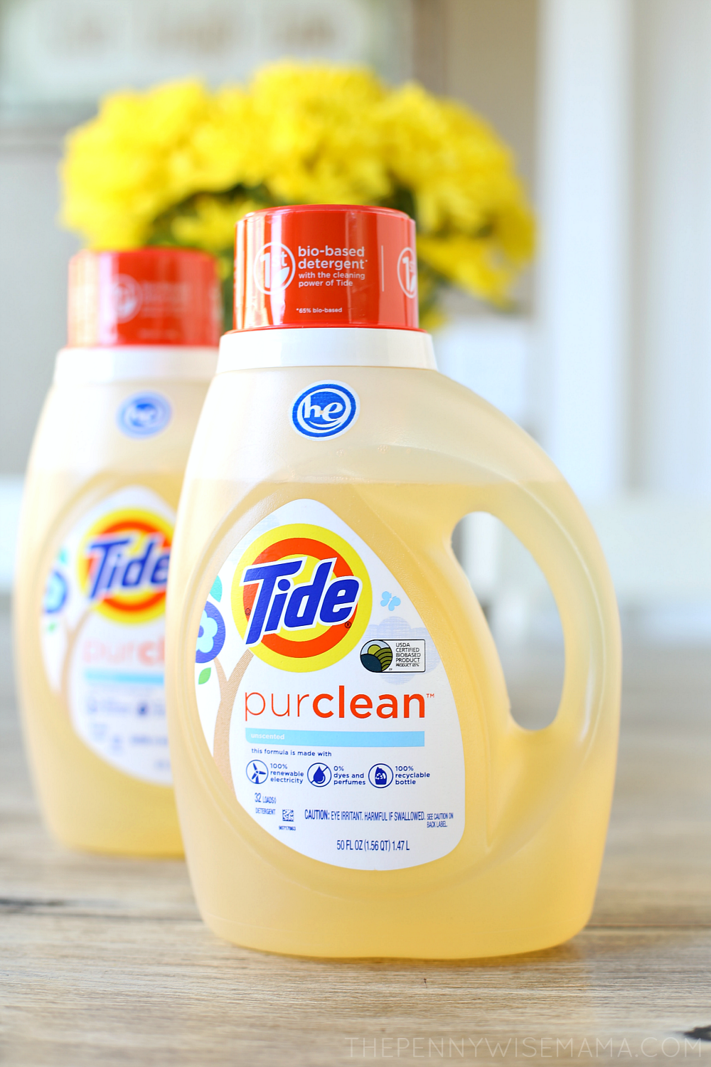 Tide purclean laundry detergent