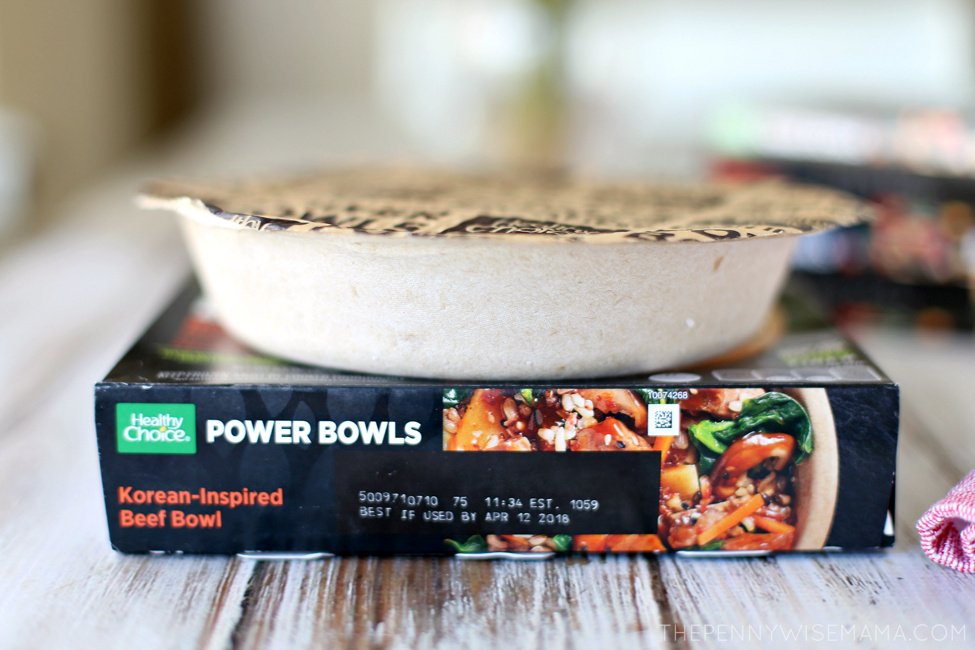 Healthy Choice Power Bowl - bowl is made with plant-fiber instead of plastic!