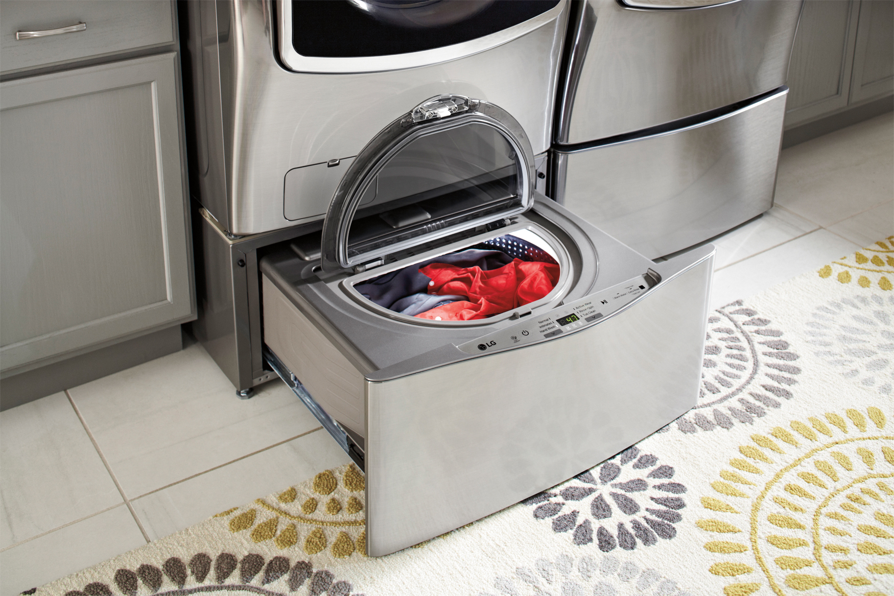 Wash two loads at once with LG Front Load SideKick Washer