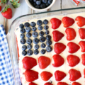 Fourth of July Wave Your Flag Cheesecake