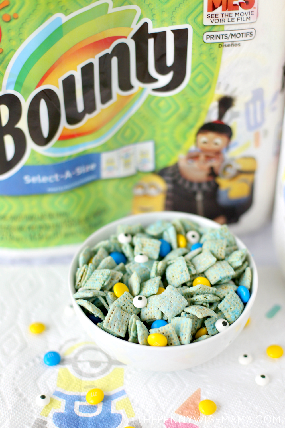 Bounty Despicable Me 3 prints + Minions Muddy Buddies