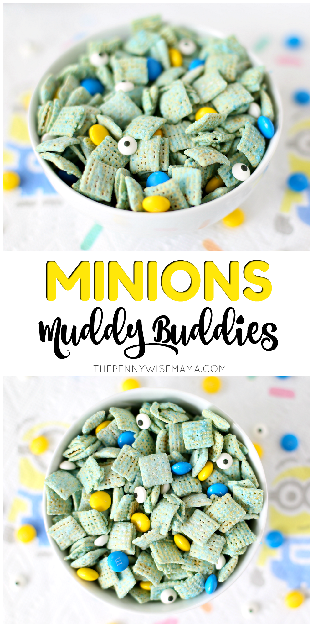 Minions Muddy Buddies - simple recipe that is great for parties!