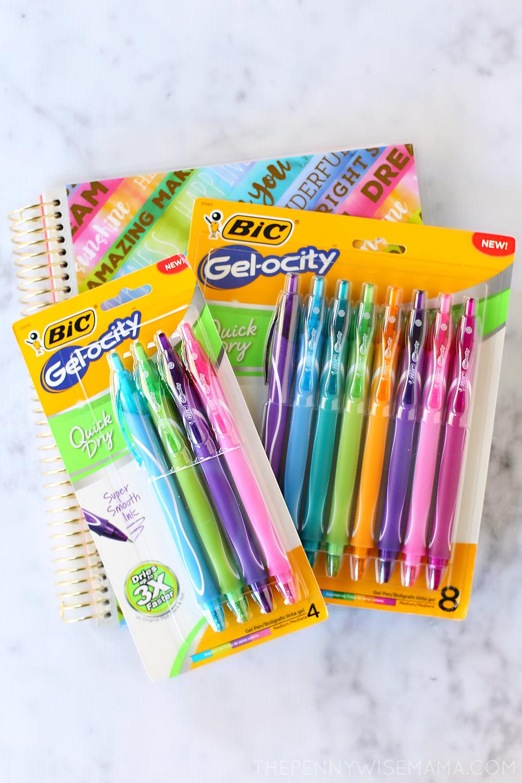 BIC Gel-ocity Quick Dry Gel Pens
