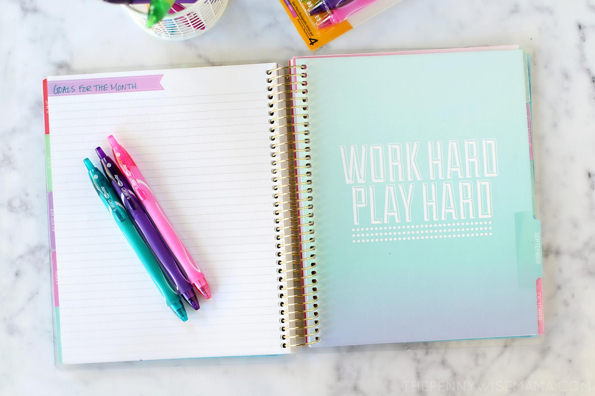BIC Gel Pens for Planner