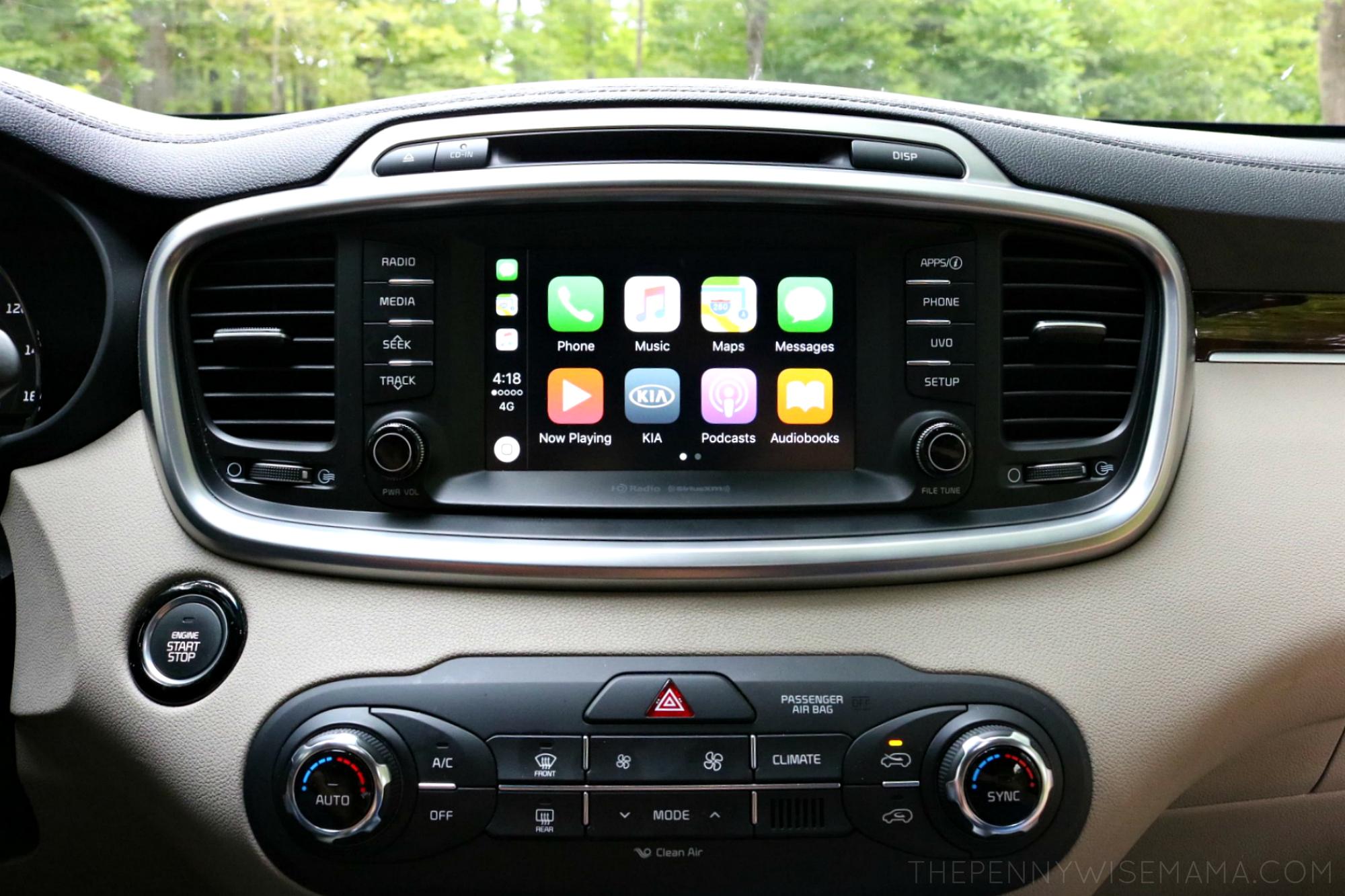 Kia Sorento Car Play Feature