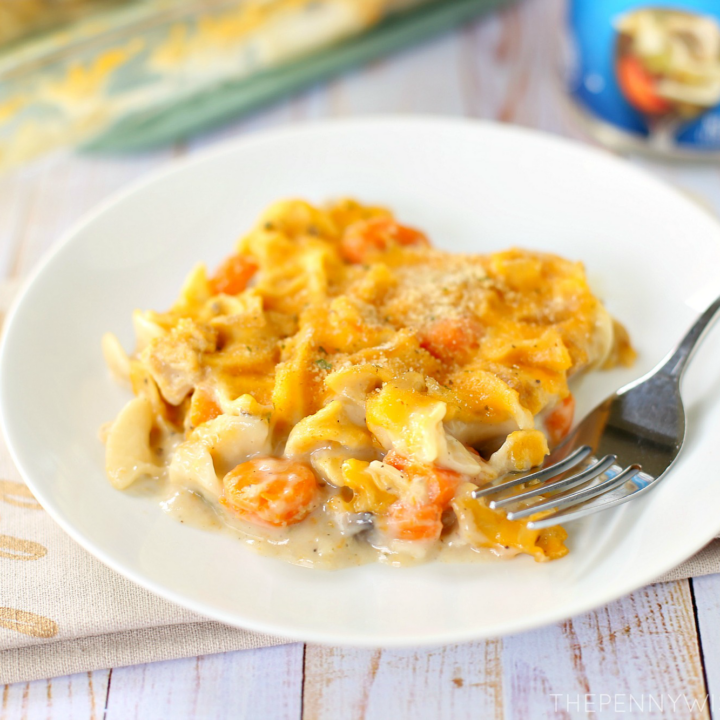 Cheesy Chicken Noodle Soup Casserole