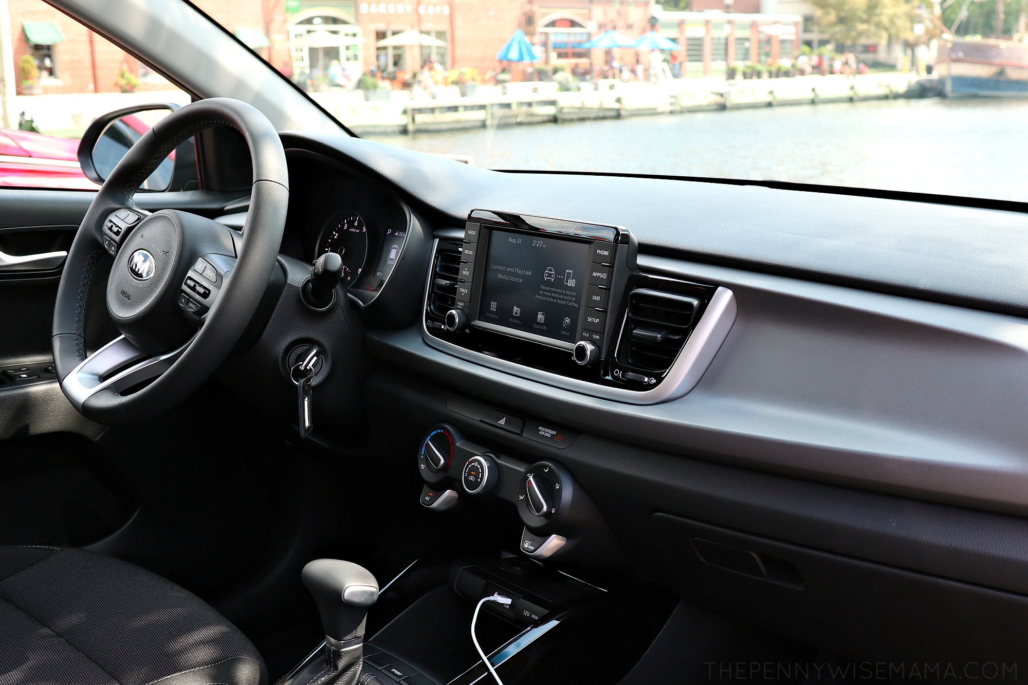 Interior of 2018 Kia Rio
