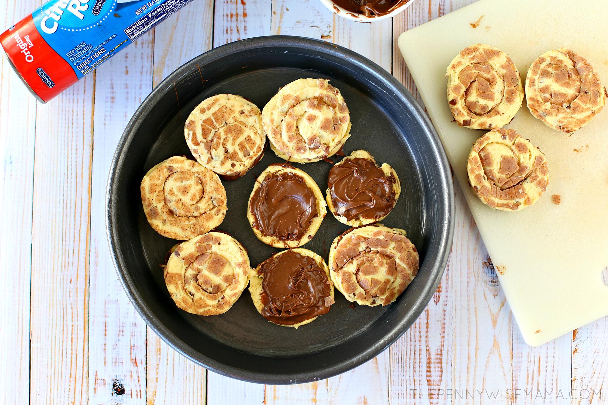 Chocolate Hazelnut Cinnamon Rolls Recipe