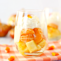 Healthy Candy Corn Fruit Parfaits