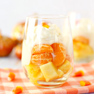 Candy Corn Fruit Parfaits - a yummy, tooth-friendly treat!