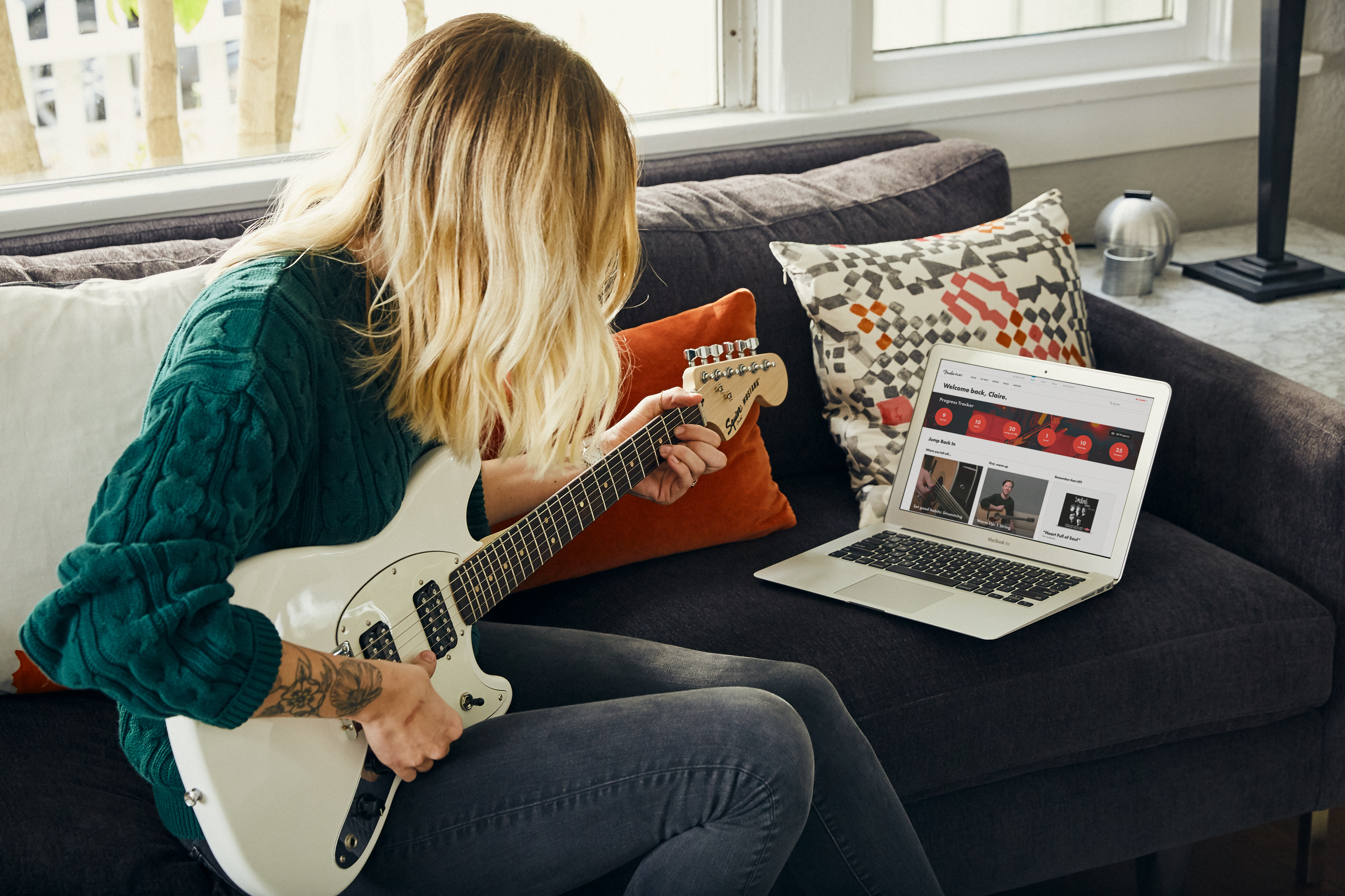 Virtual Guitar Lessons with Fender Play