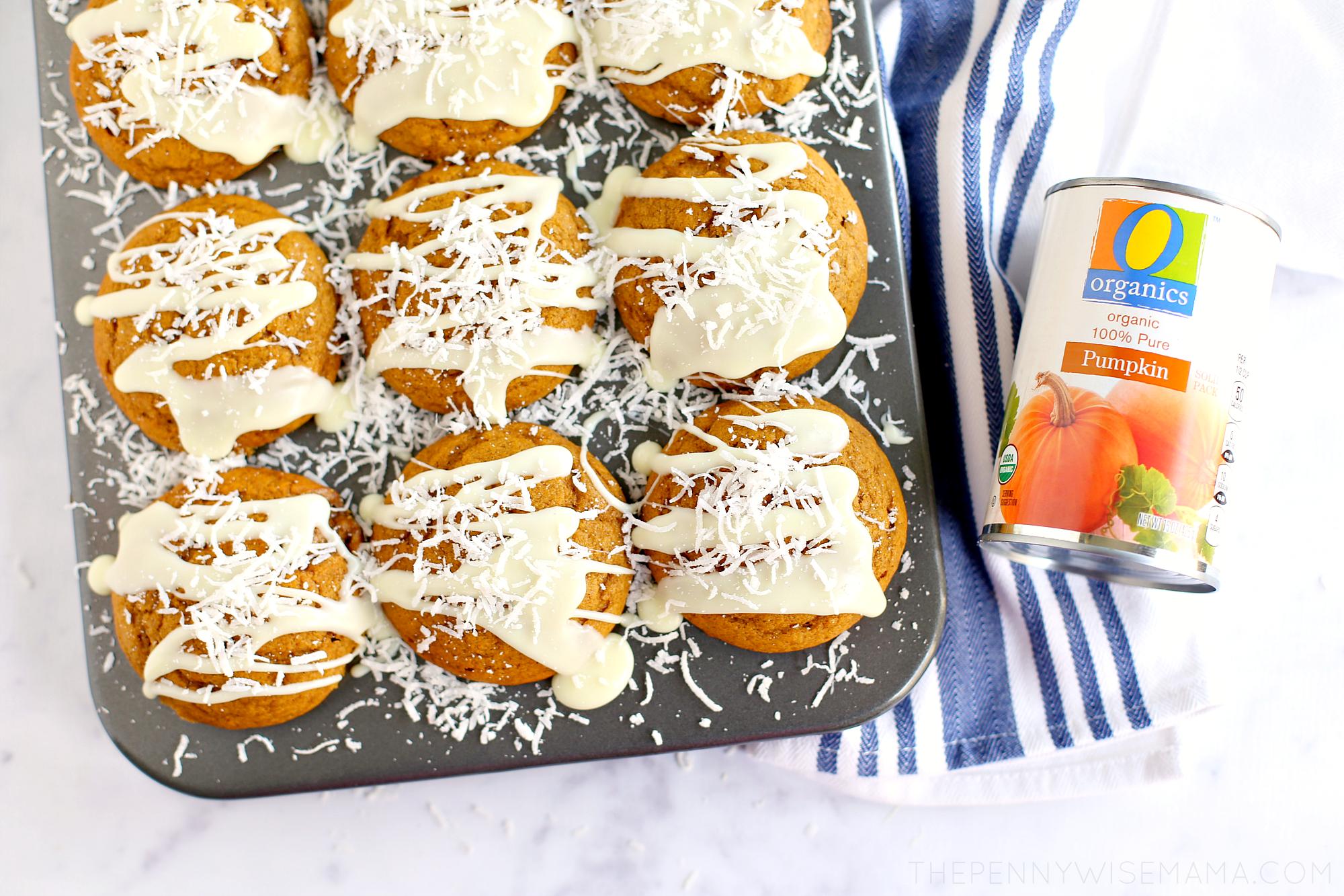 Coconut Pumpkin Muffins