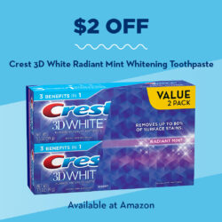 Stock Up on These Essentials for the Holidays + $2 off Crest 3D White Coupon
