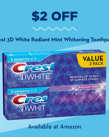$2 off Crest 3D White Coupon