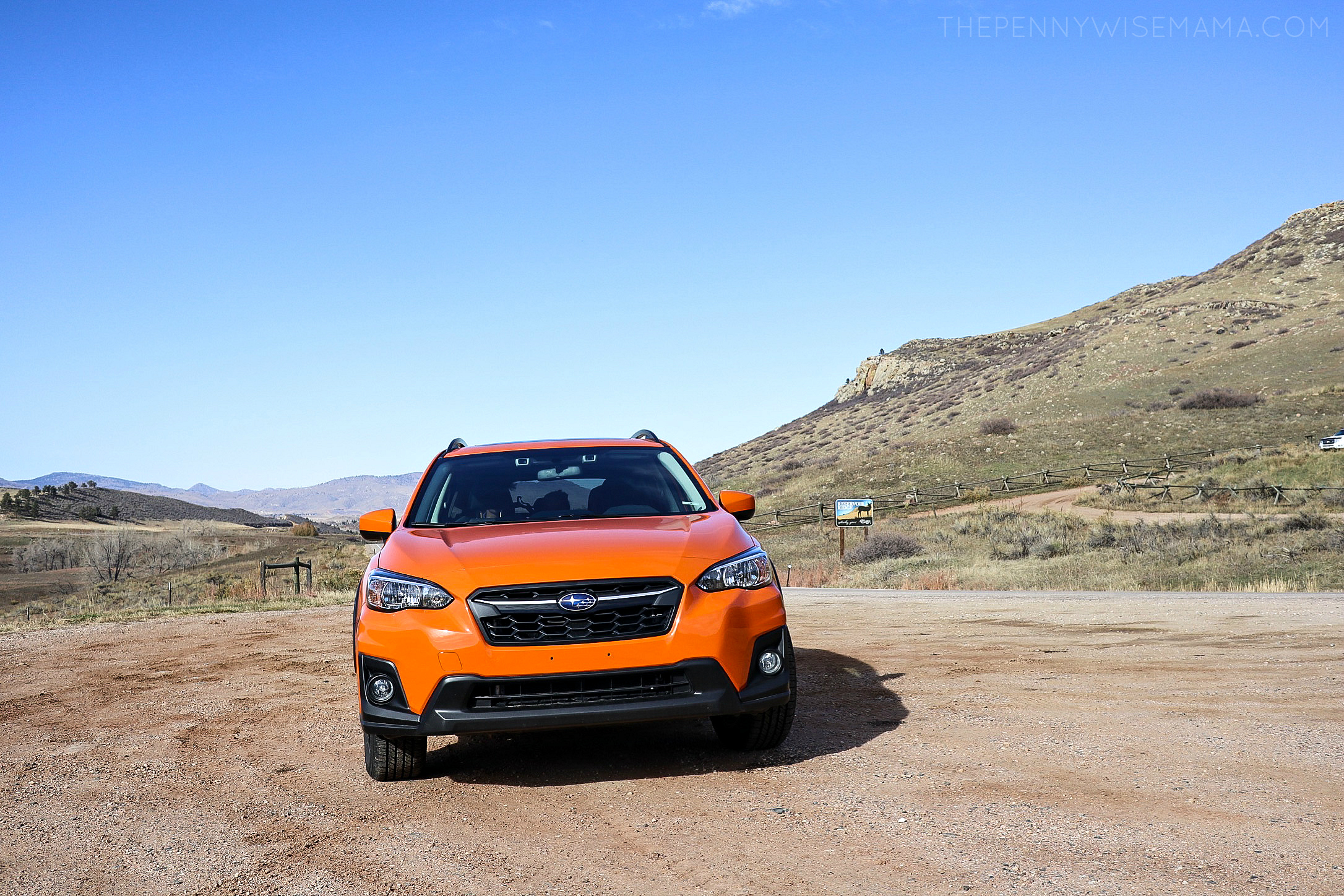 The 2018 Subaru Crosstrek in Sunshine Orange