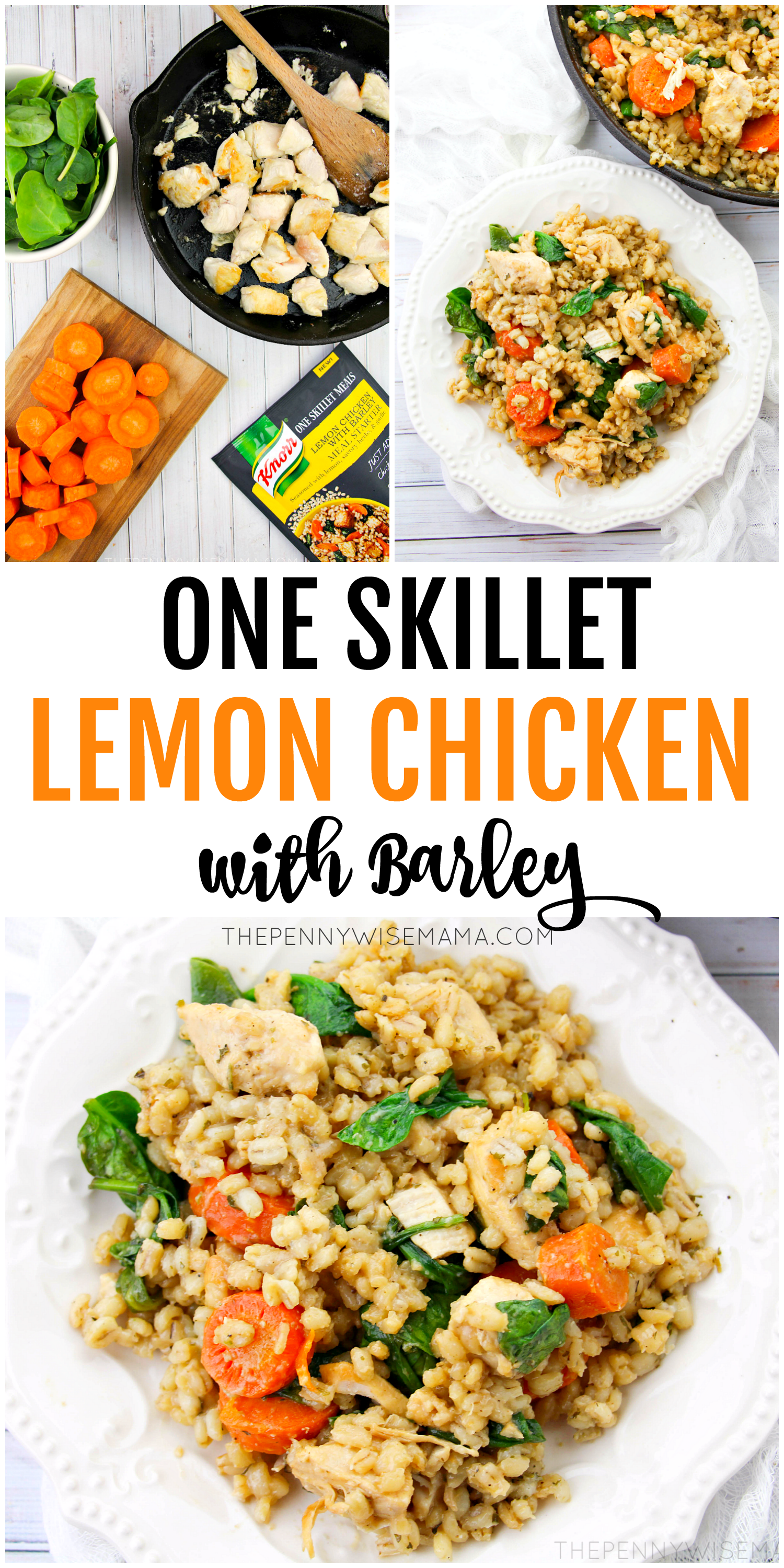 One Skillet Lemon Chicken with Barley - Healthy & Delicious Recipe