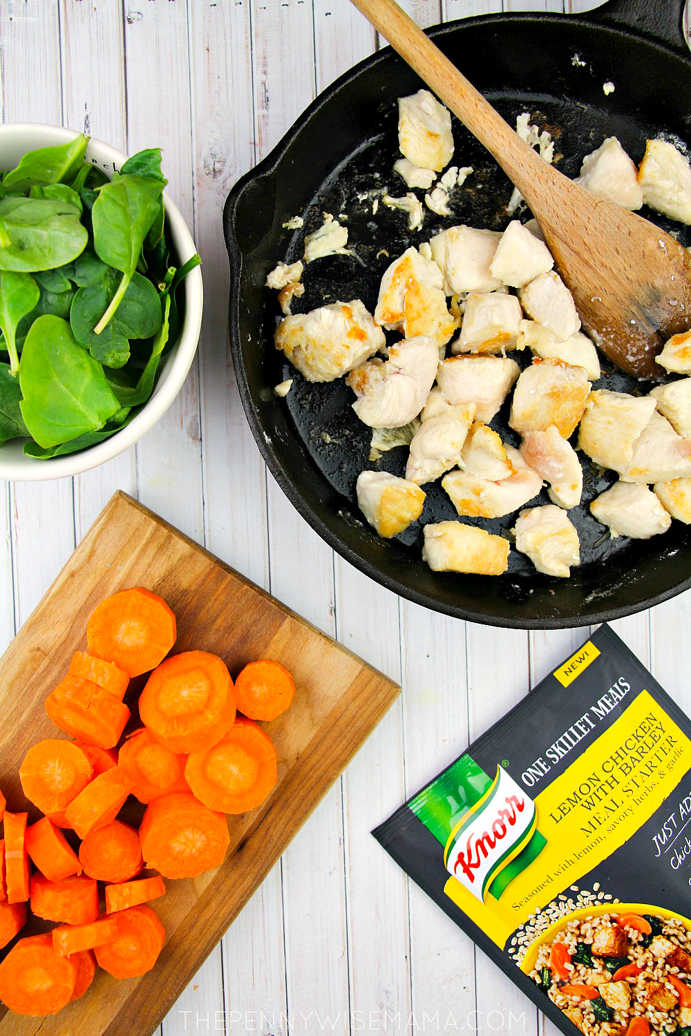 Knorr One Skillet Meals - Lemon Chicken with Barley