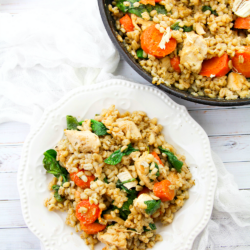 Easy One Skillet Lemon Chicken with Barley