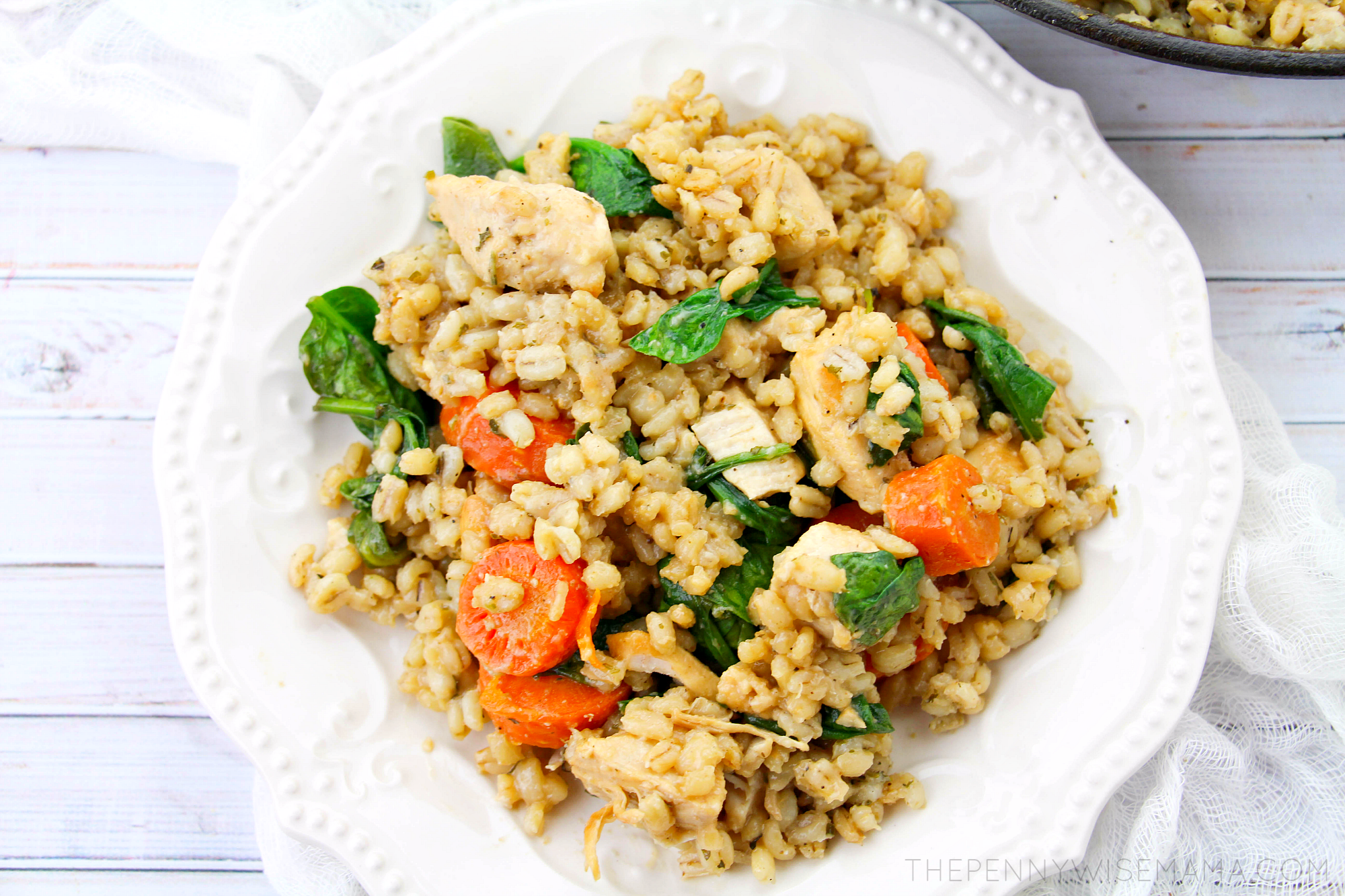 Lemon Chicken with Barley