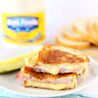 Grilled Ham and Pepper Jack Cheese Sandwich Recipe - Amazing grilled cheese with mayo!