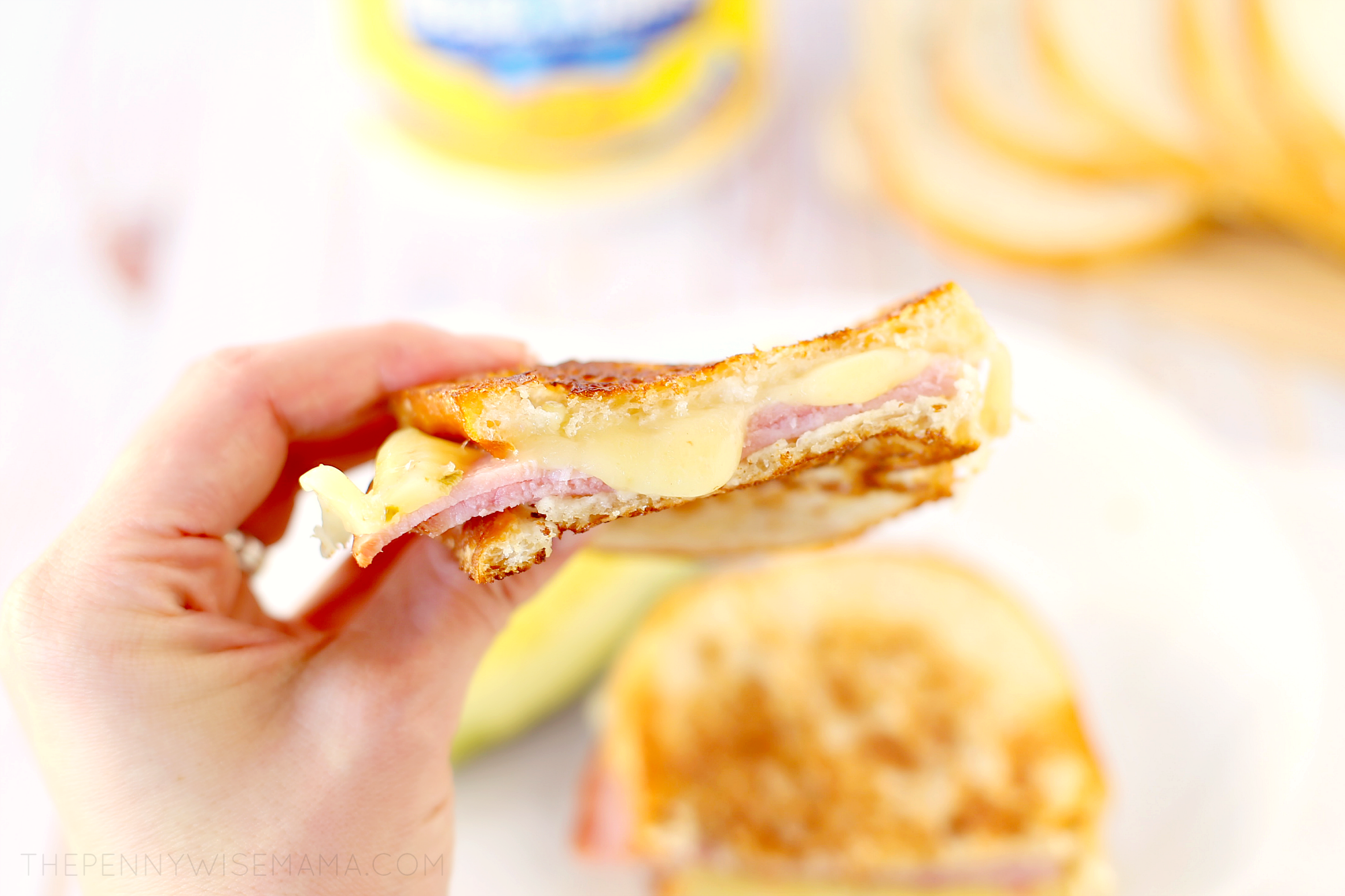 Grilled Ham and Pepper Jack Cheese Sandwich