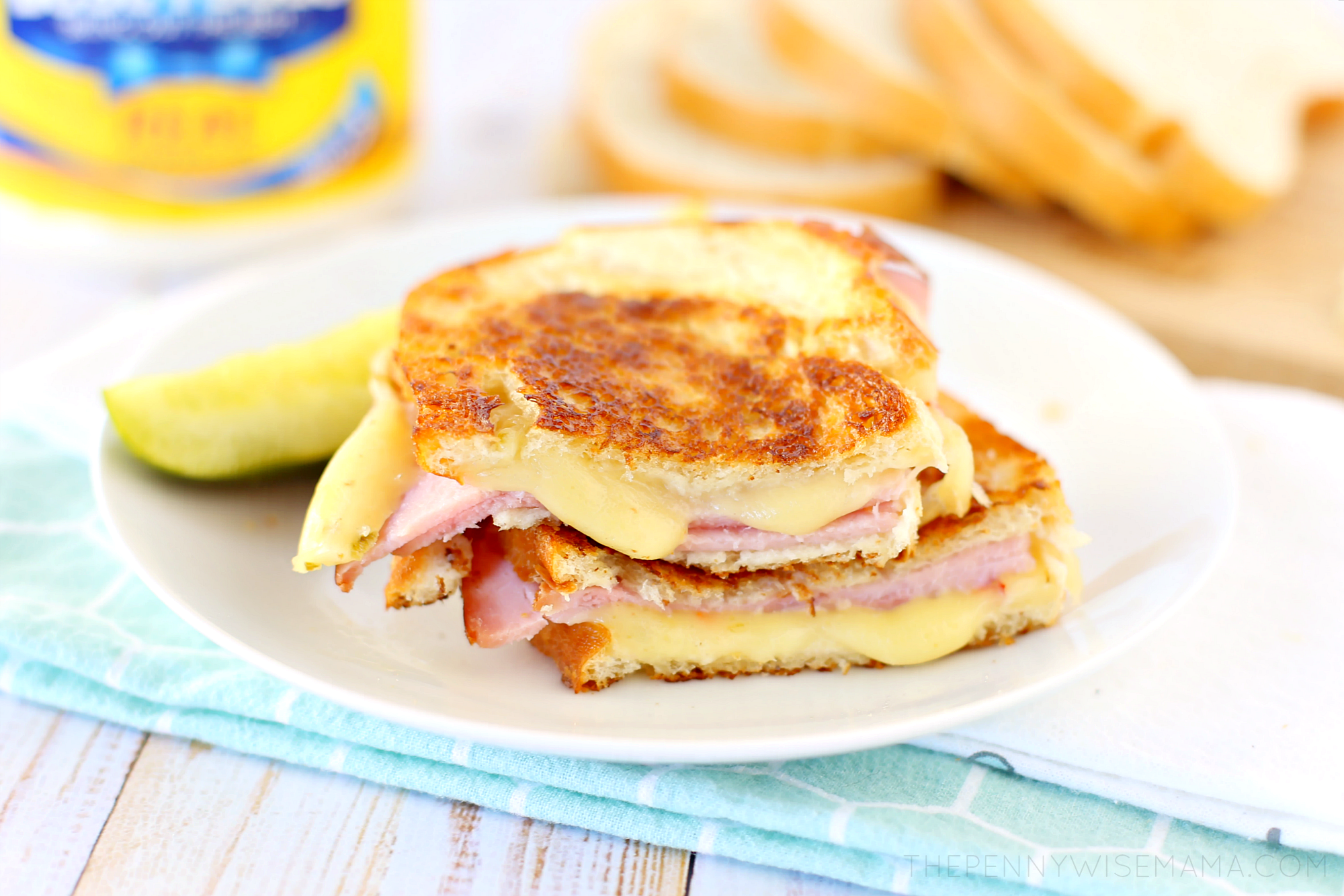 Grilled Ham and Pepper Jack Cheese Sandwich Recipe