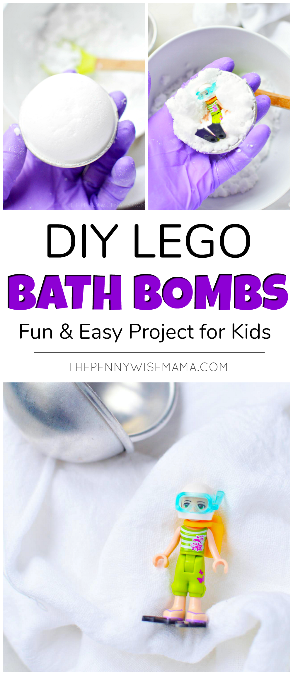 DIY Lego Bath Bombs - A Fun and Easy Project for Kids! Perfect for bath time or as a sensory experience. #lego #legos #bathbomb #bathbombs #bathfizzie