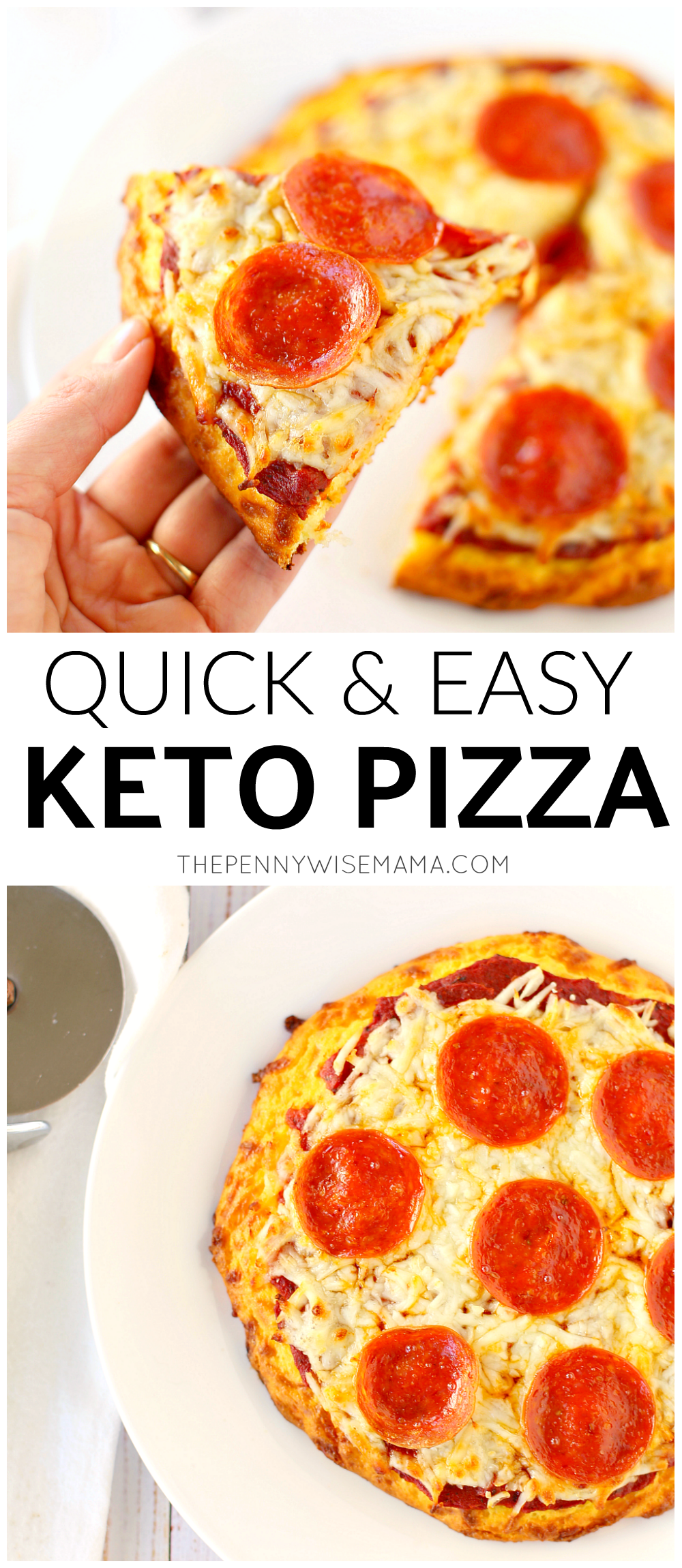 Quick & Easy Low Carb Keto Pizza Recipe - takes just 20 minutes to make!