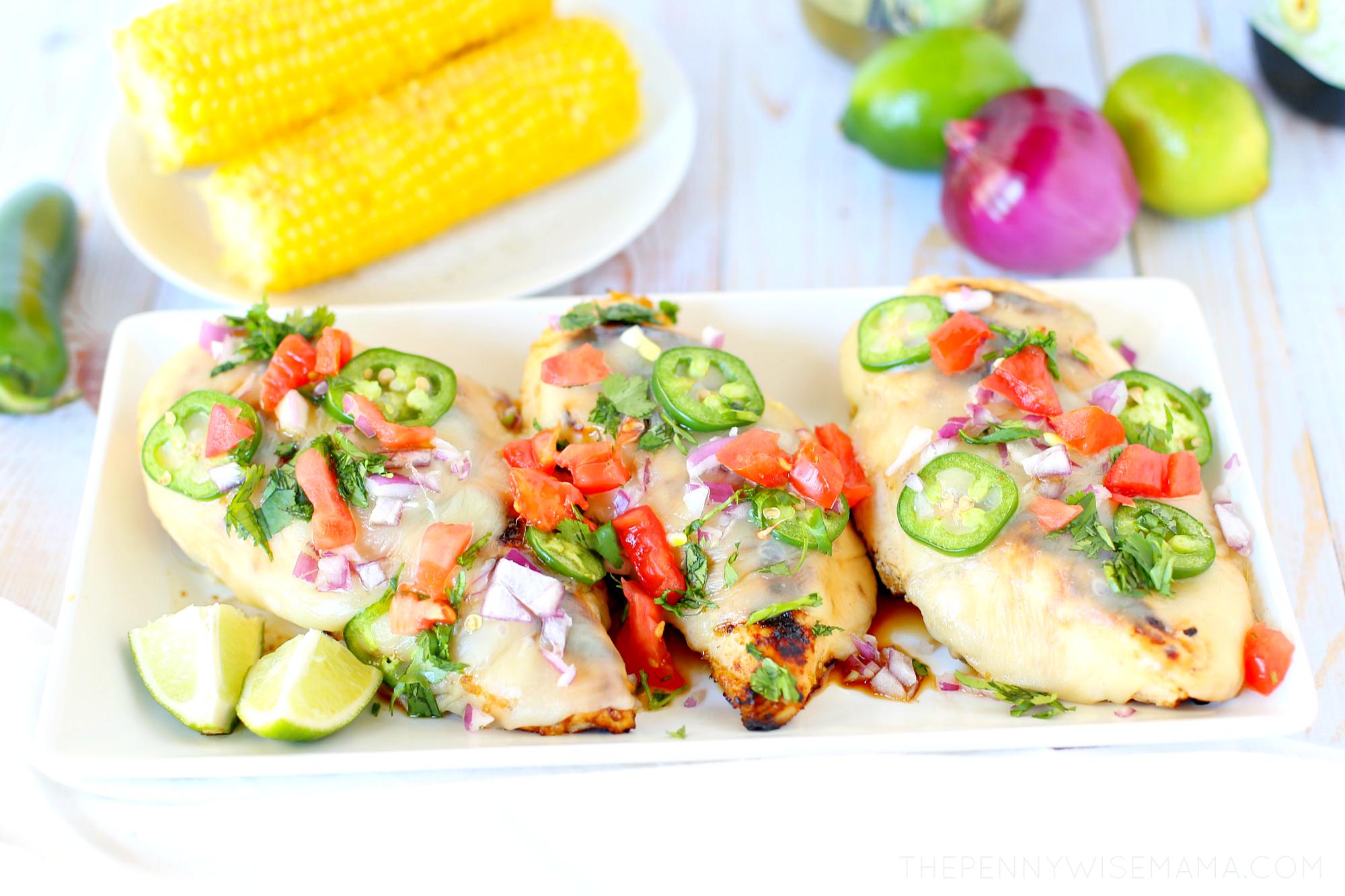 Cheesy Grilled Salsa Verde Chicken Recipe