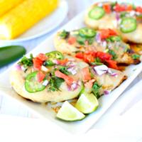 Cheesy Grilled Salsa Verde Chicken